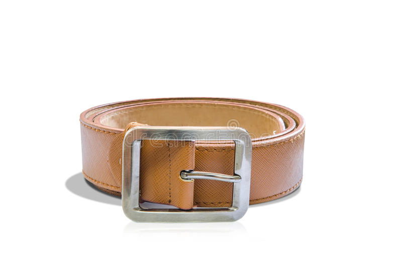 Leather belt for men stock photos