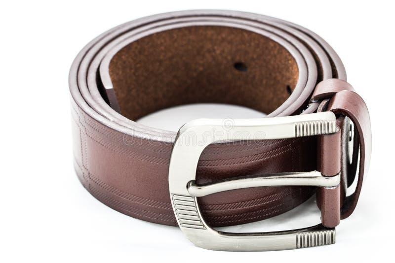 Leather belt for men stock photo
