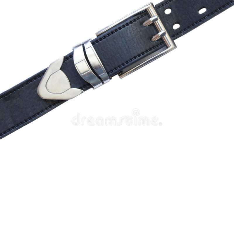 Leather belt. On a white background royalty free stock image