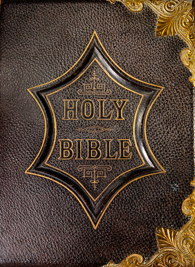 Vintage Leather Look Jeremiah Verse Bible Book Cover Large: Leather Book Cover Holy Bible Royalty Free Stock Images