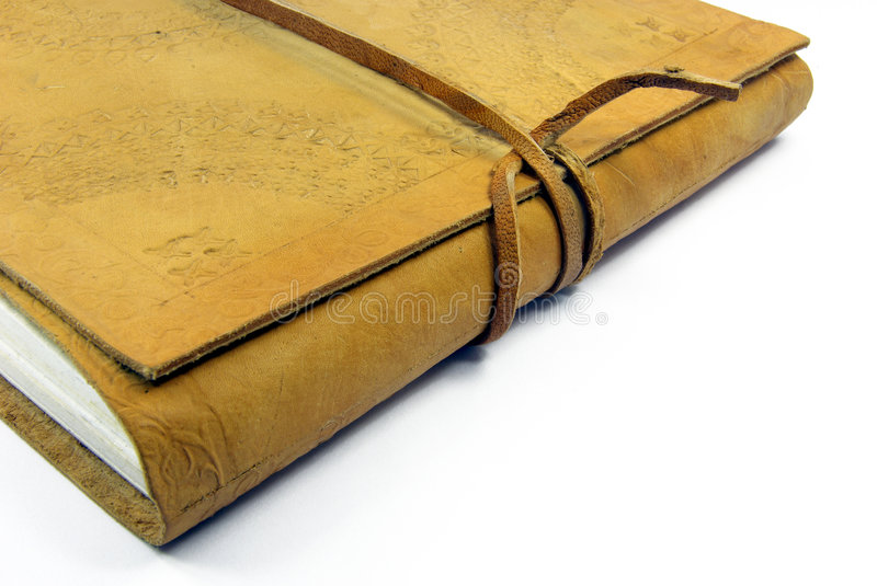 Leather book detail 2 stock photos