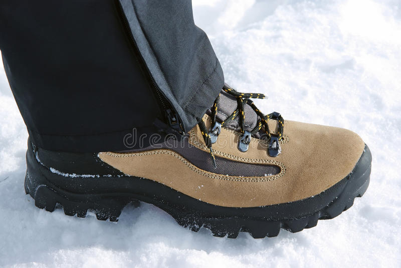 Download Leather boot stock photo. Image of climb, brown, journey - 12862008