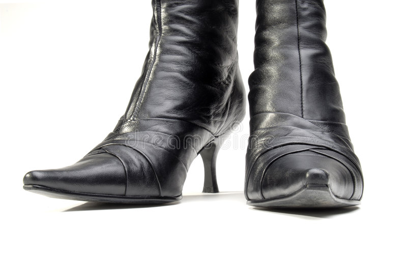 Leather Boots royalty free stock photo