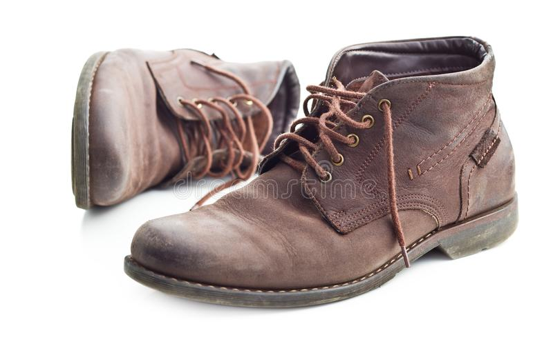 The leather boots. stock photography