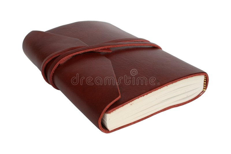 Leather bound journal royalty free stock photos