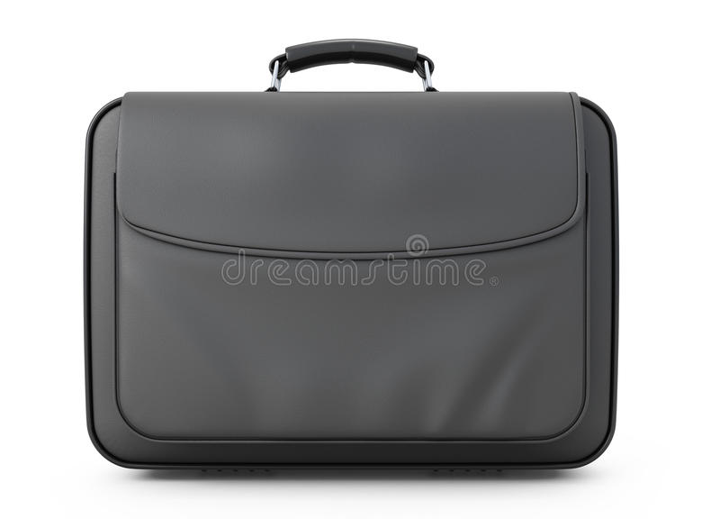 Leather briefcase for documents front view royalty free illustration