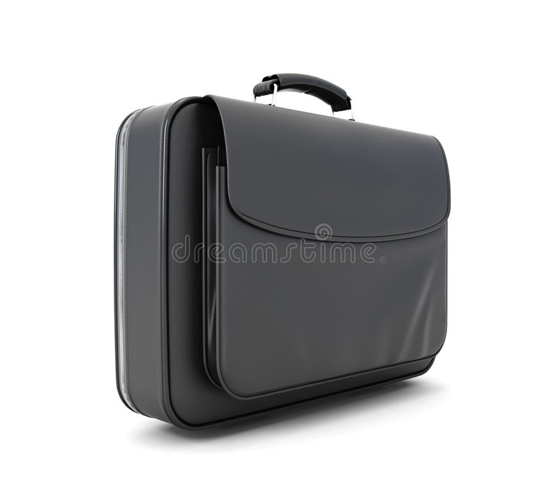Leather briefcase for documents royalty free illustration