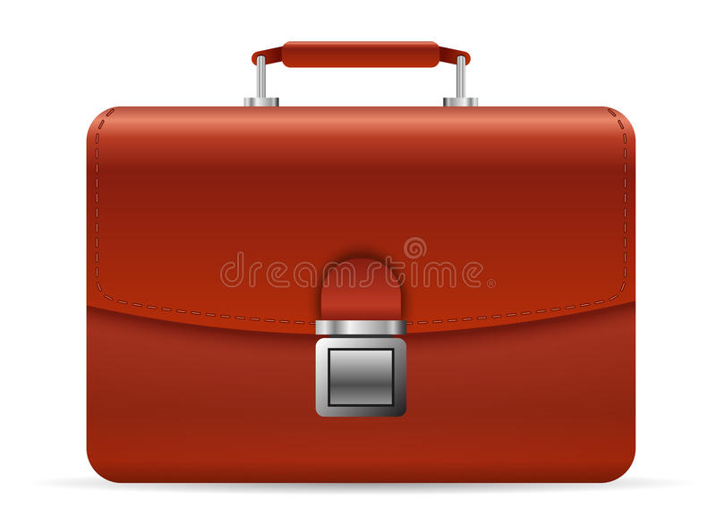 Leather Briefcase Stock Illustration