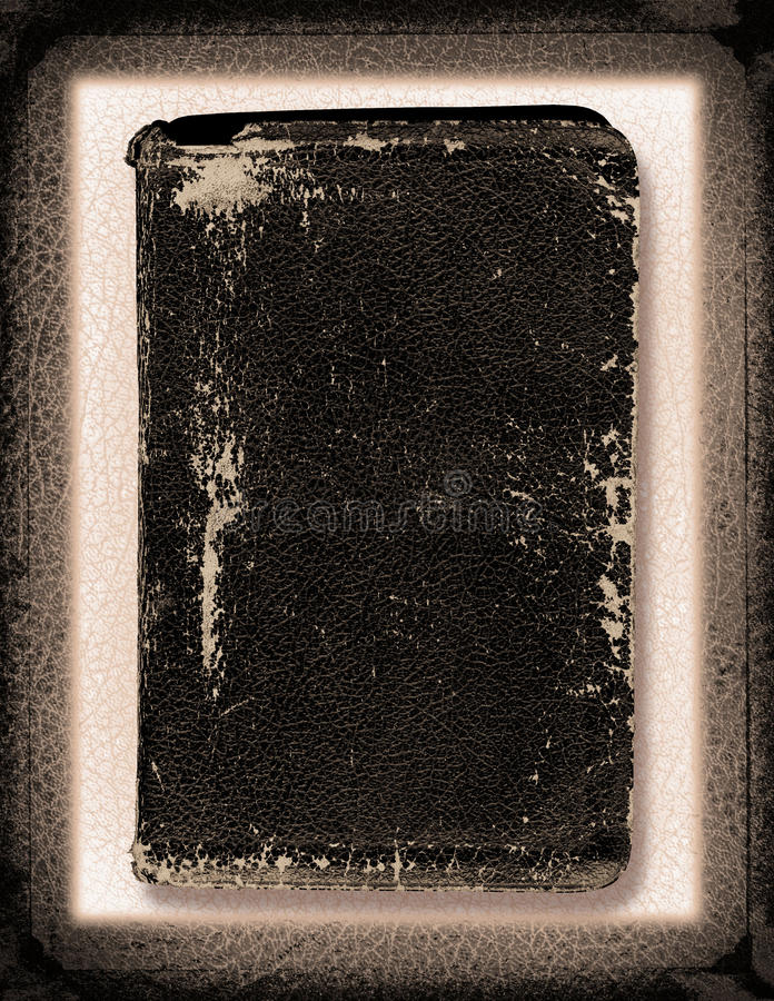 Leather Collage. A vintage leather collage with a Bible stock images