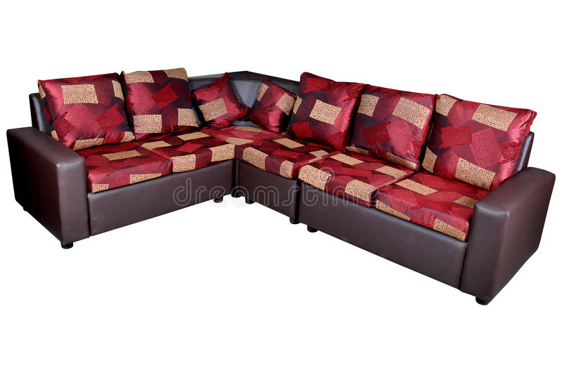 Leather corner sofa royalty free stock images