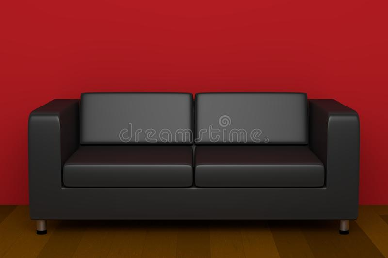 Leather couch royalty free illustration