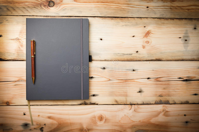 Leather cover note book stock image