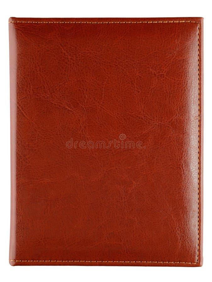 Leather cover of photo album stock photo
