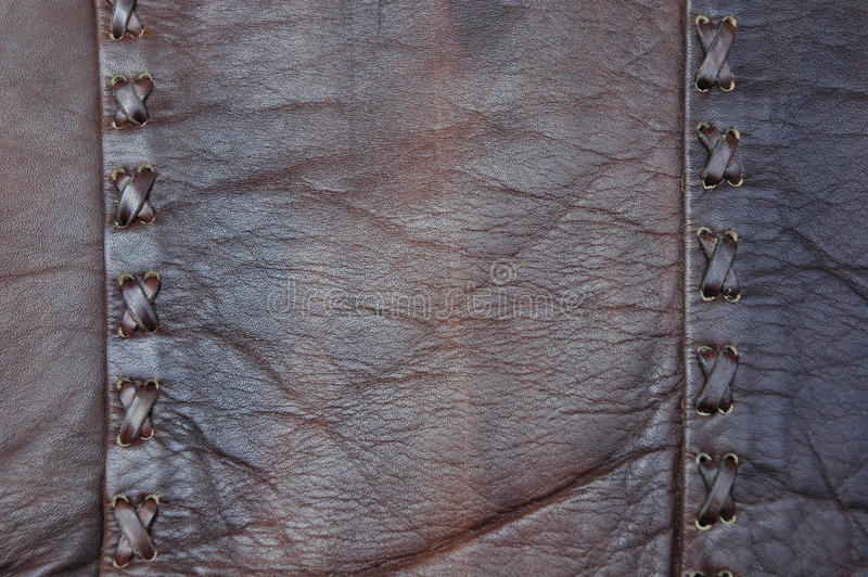 Download Leather Cross Stitch stock photo. Image of seam, worn - 17861560