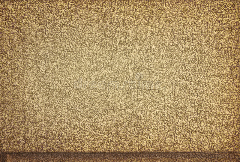 Leather, crusty tan. A crusty tan piece of leather, suitable for a background texture stock images
