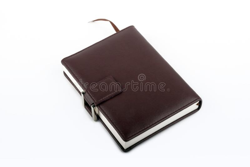 Leather Diary royalty free stock images