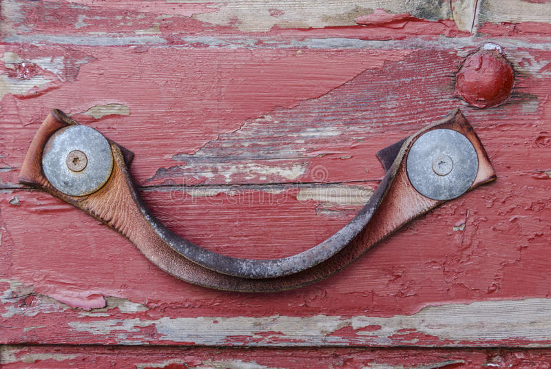 Leather door handle royalty free stock photos