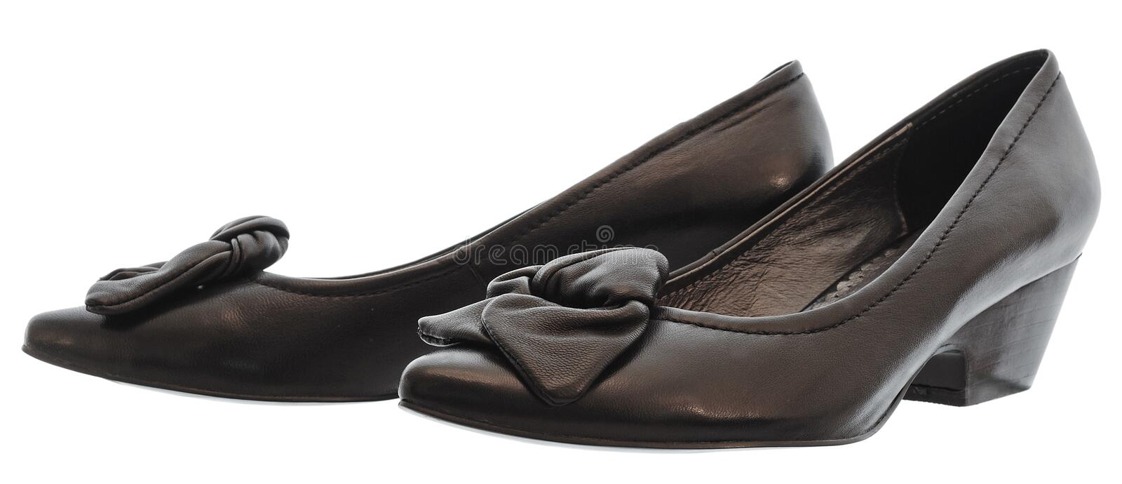 Leather fancy shoe stock photos