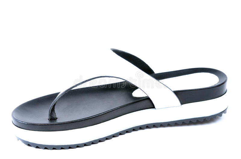 Leather flip flops royalty free stock image