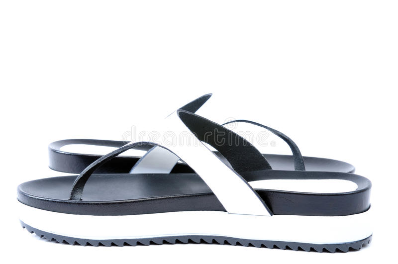 Leather flip flops royalty free stock images