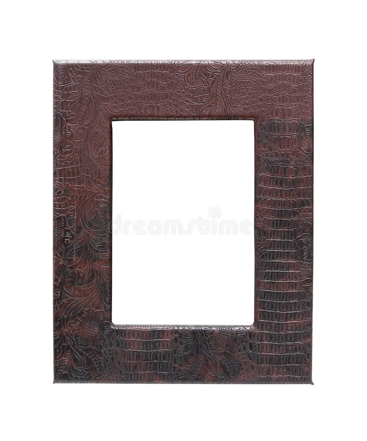 Leather frame stock photography