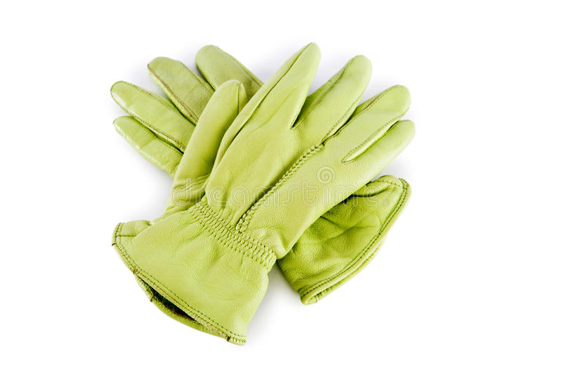 Leather gloves isolated on the white royalty free stock photos
