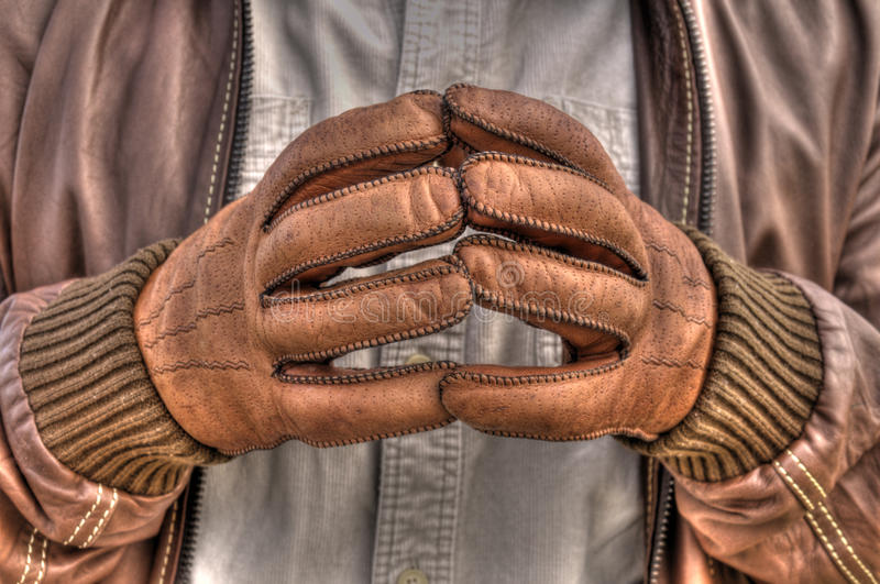 Download Leather gloves stock photo. Image of winter, jacket, leather - 39504720