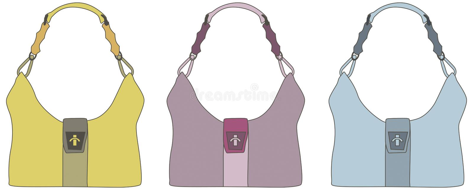 Download Leather handbags stock vector. Illustration of silhouette - 4390166