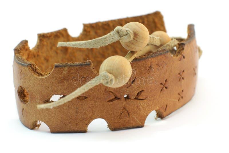 Leather handmade bracelet royalty free stock photos