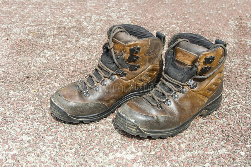 Leather Hiking Boots Royalty Free Stock Photos