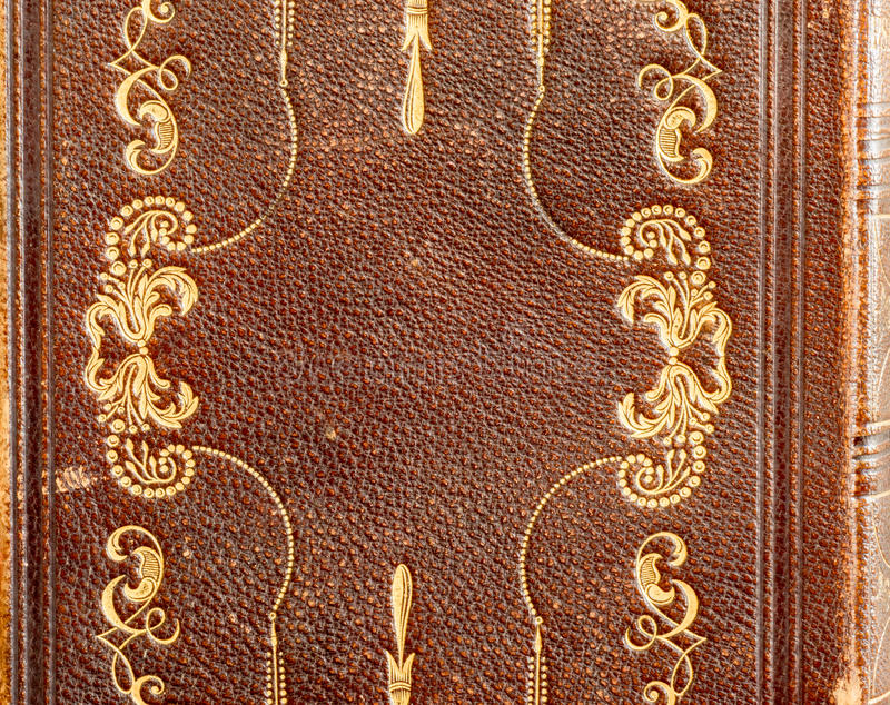 Leather Hymn Book Detail with Gold Stamping stock photos