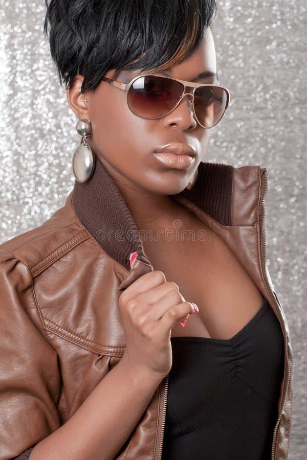 Download Leather jacket stock photo. Image of skin, black, lips - 14778794
