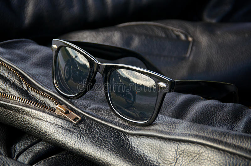 Download Leather Jacket Detail With Sunglasses Stock Photo - Image: 37727650