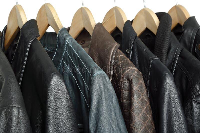 Leather jackets stock photo