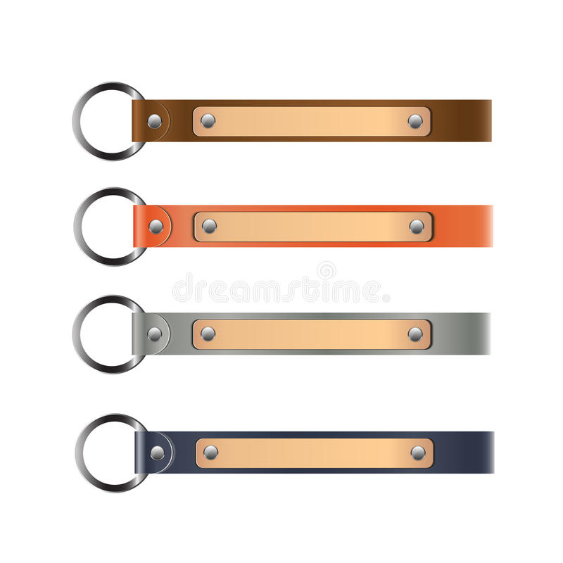 Leather key-chain vector stock illustration