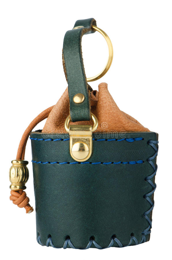 Download Leather keychain stock photo. Image of isolated, blue - 26245914