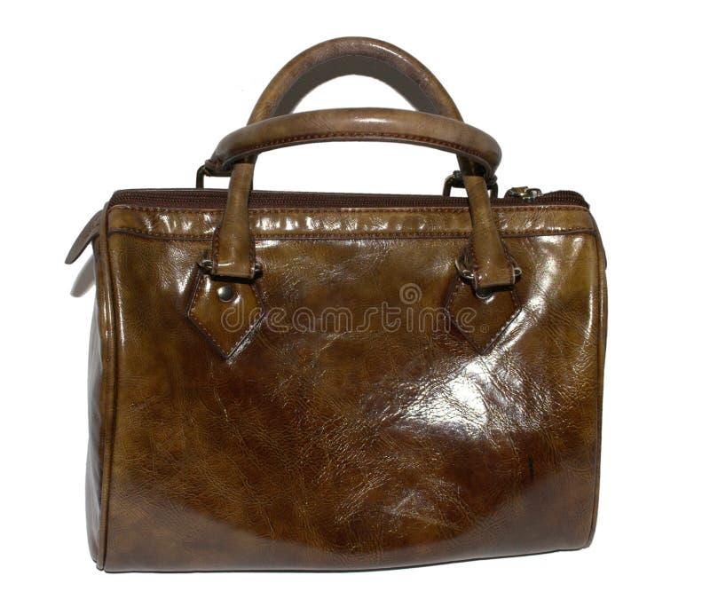 Leather ladies handbag royalty free stock image