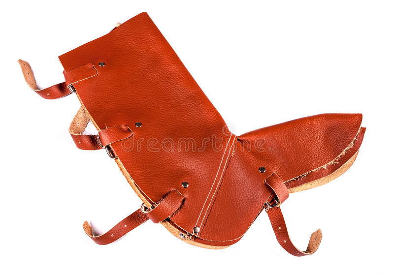 Leather Leg Protection Royalty Free Stock Images