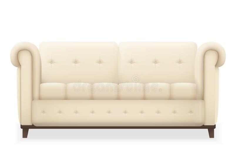 Leather Luxury Modern Vintage Living Room Sofa. Single Vector ...
