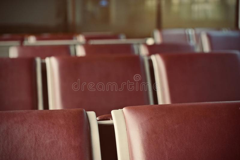 Leather made brown coloured chairs cover stock photograph. The beautiful brown coloured leather made chairs top cover isolated stock photograph royalty free stock photography