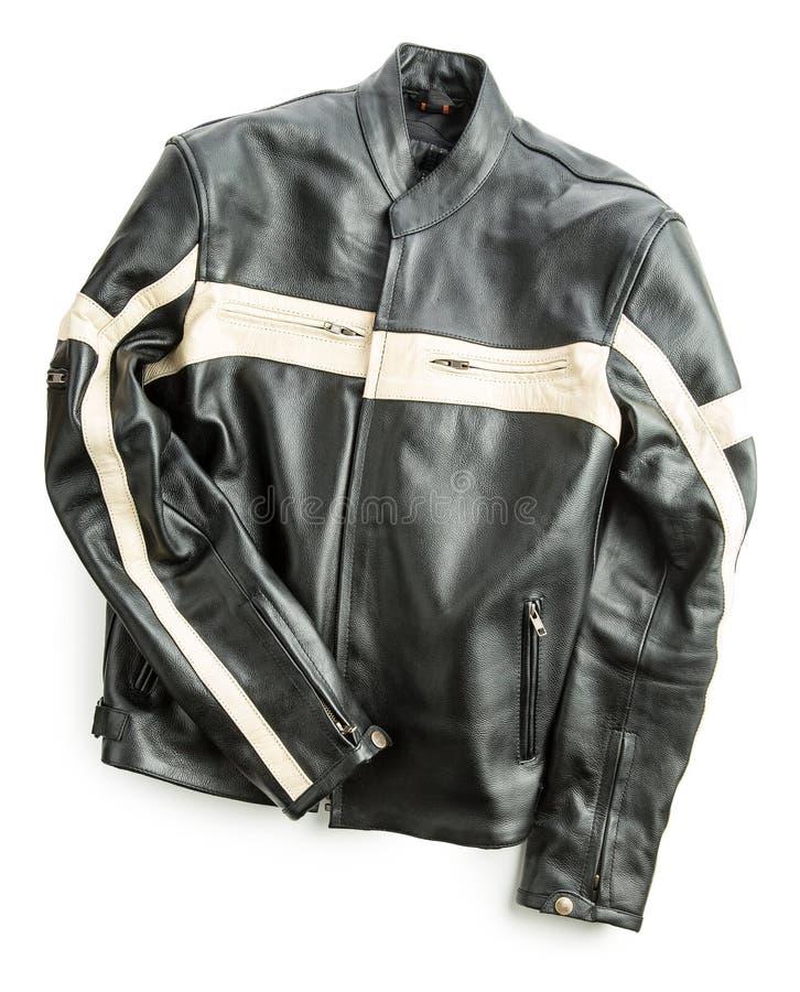 Leather motorcycle jacket. stock photography