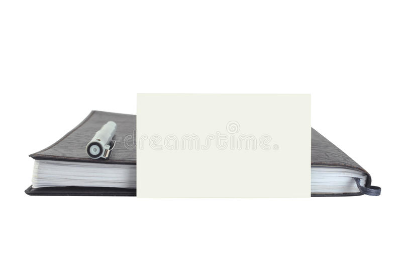 Download Leather notebook with card stock photo. Image of cover - 11543726