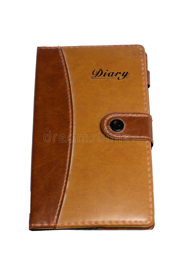 Leather Notebook. On white background stock images