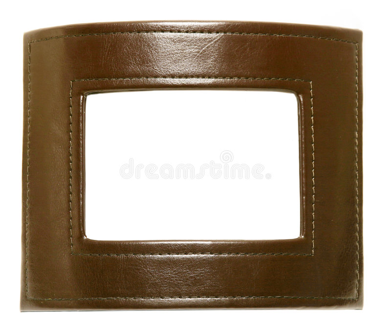 Download Leather Photo Frame Royalty Free Stock Image - Image: 185356
