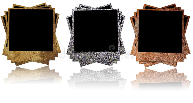 Download Leather photo frames stock photo. Image of vintage, skin - 19285018