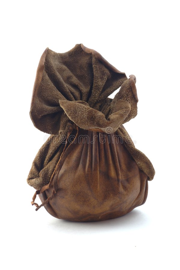 Leather pouch royalty free stock photography