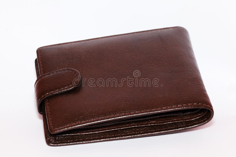 Leather purse stock image