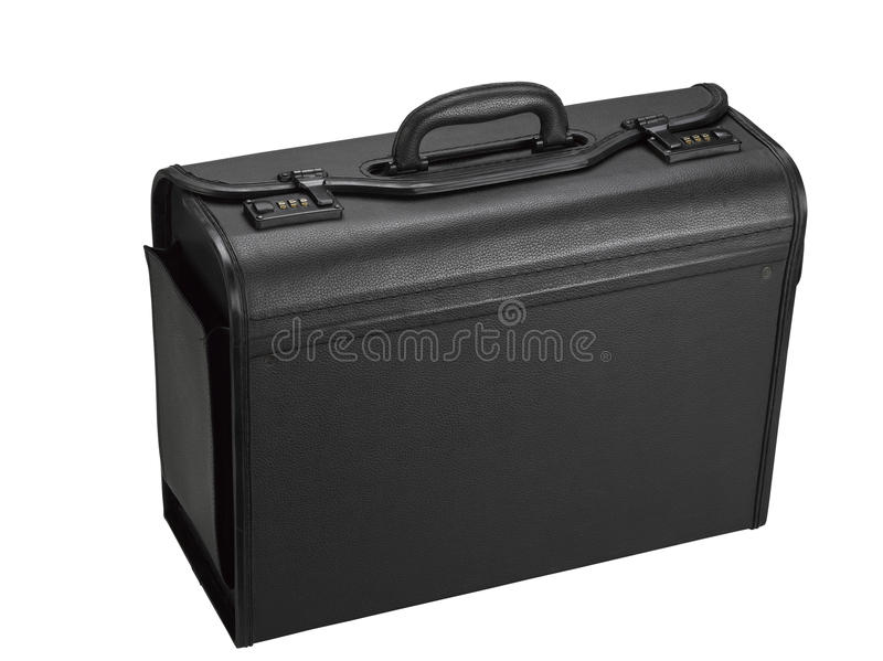 Leather Representative Suitcase Royalty Free Stock Images