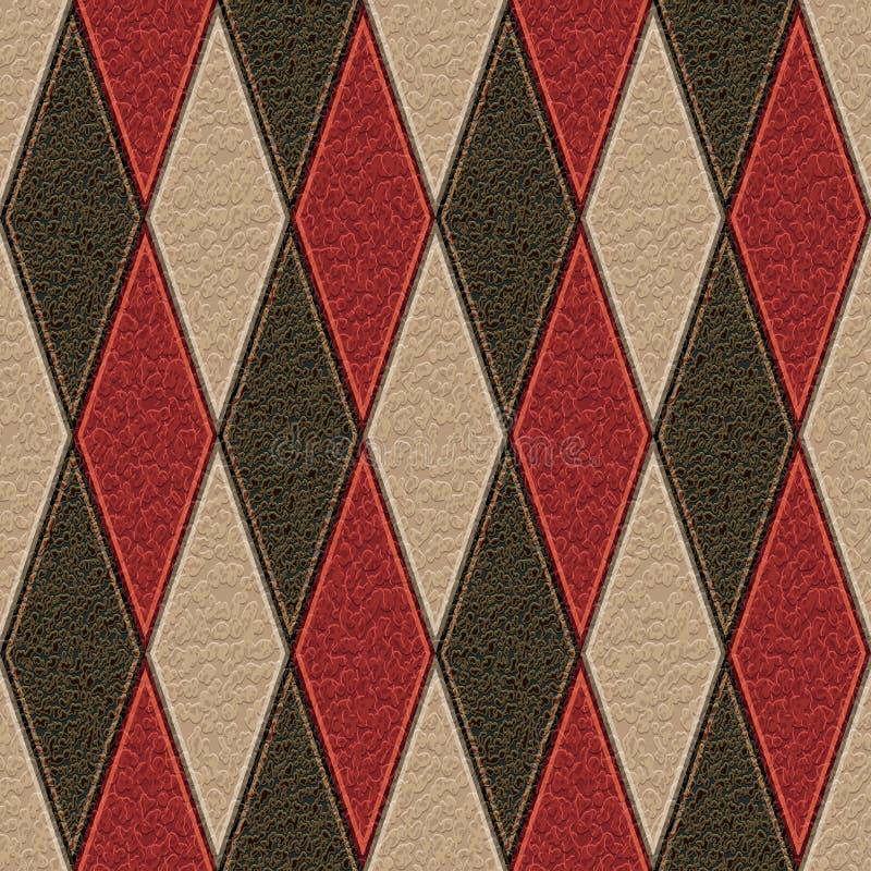 Leather rhombus stock illustration