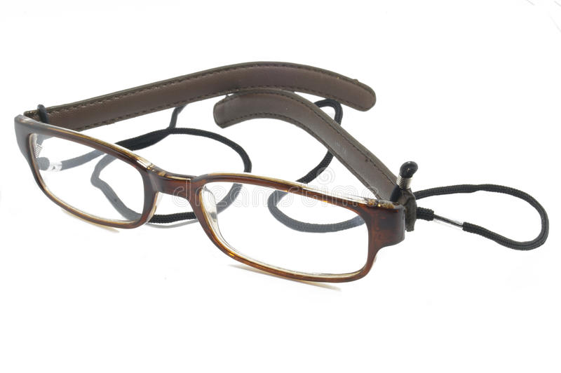 Leather-rimmed Glasses Stock Images